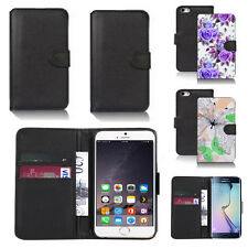 black pu leather wallet case cover for many mobiles design ref q610