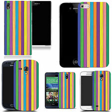 gel case cover for many mobiles  -  multi stripe silicone