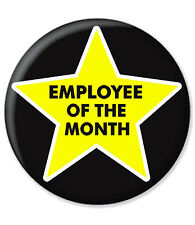 EMPLOYEE OF THE MONTH BADGE STAR EMPLOYEE OFFICE WORK AWARD WORKER GOLD AWARD