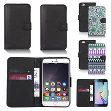 pu leather wallet case cover for many mobiles design ref q85