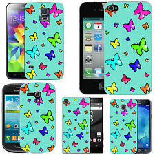 gel case cover for many mobiles - azure multi theme butterfly silicone