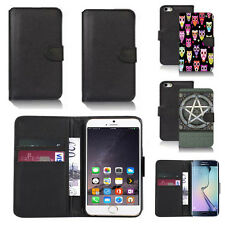 black pu leather wallet case cover for apple iphone models design ref q611