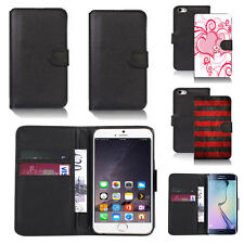 black pu leather wallet case cover for many mobiles design ref q623