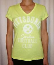 Pittsburgh Steelers G-III 4 Her by Carl Banks Womens V-Neck T-Shirt - Yellow