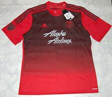 Adidas MLS Portland Timbers Away Soccer Jersey, M38560, Red/Black, US Size XL