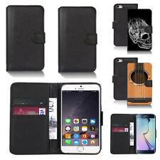 black pu leather wallet case cover for many mobiles design ref q777