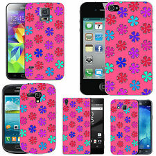 gel case cover for many mobiles - blush multi line clover silicone