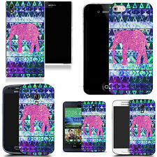 gel case cover for many mobiles - boho pink elephant silicone