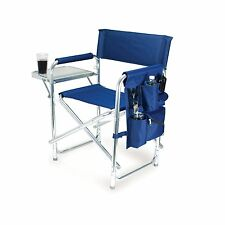 Folding Sport Chair Portable Camping Picnic Travel Table Blue Patio Sturdy Seat