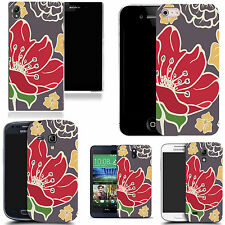 gel case cover for many mobiles  - red poppy silicone