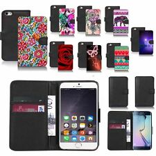 black pu leather wallet case cover for popular mobiles design ref a82