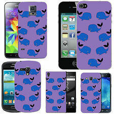 gel case cover for many mobiles - violet funky wales silicone