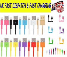 1M 2M 3M USB Data Cable Plug Charger Wire Lead For iPhone 7 6 6S 5S 5C iPad Air
