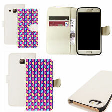 pu leather wallet case for majority Mobile phones - inspiring white