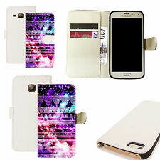pu leather wallet case for majority Mobile phones - yippie white