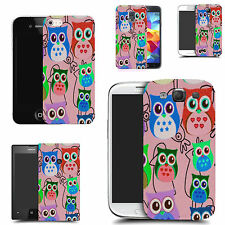 pictoral case cover for most Popular Mobile phones  - multi owl