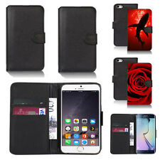 black pu leather wallet case cover for many mobiles design ref q630