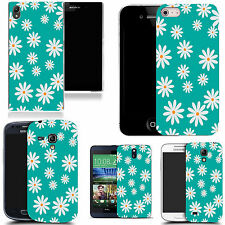 motif case cover for various Popular Mobile phones - aqua small cluster daisy