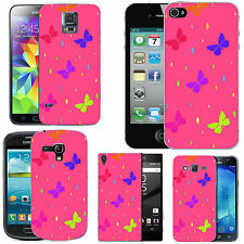 gel case cover for many mobiles - blush colourful butterfly droplet silicone