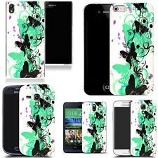 motif case cover for many Mobile phones - aqua creeping butterfly