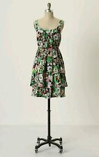Anthropologie Dress By Moulinette Soeurs Silk Floral Tiered Akebia Dress SIZE 6