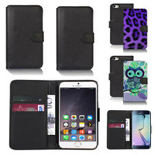 black pu leather wallet case cover for apple iphone models design ref q391
