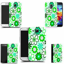 hard case cover for variety of mobiles -   green daisy