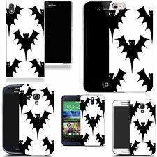 gel case cover for many mobiles  - white bat silicone