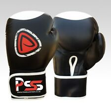 Brand new machine moulded foam boxing gloves fight punch black Rex leather 1013
