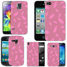gel case cover for many mobiles - blush pink feathers silicone