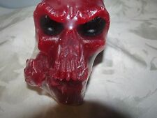 """skull candle with rose scented wicca candle 5""""  By Joanndles"""