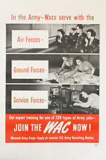 [Women's Army Corps] POSTER: IN THE ARMY WACS SERVE WITH THE AIR FORCES 1944