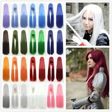 60/80/100cm Fashion Full Wig Long Straight Wig Cosplay Party Costume Anime Hair