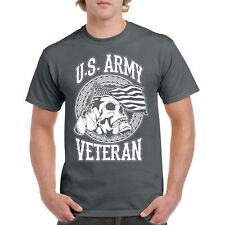 T US Army Shirt Veteran Tee Military U Flag Skull War Insignia Air Navy Gift New
