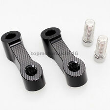 Black 10MM*1.25 Mirror Riser Right&Right-Hand Threaded Extender Adapter