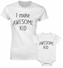 I Make Awesome Kid Slogan Awesome Kid Mother Daughter Son Mum Mom Match T shirt