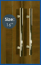 """Entry Shower Bathroom Office Long Door Pull Handle Stainless Steel Polished -16"""""""