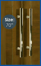 """Entry Shower Bathroom Office Long Door Pull Handle Stainless Steel Polished -70"""""""