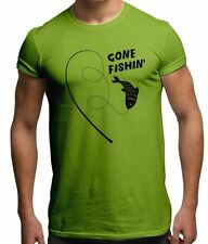 Gone Fishin' Hook & Line Fishing Fish Hobbies Novelty Angling Gift Mens T Shirt