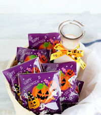 Halloween Purple Pumpkin Cello Cellophane Party Favour Sweet Biscuit Gift Bags