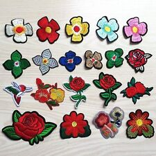 Wholesale 10PCS/SET Flower Floral Embroidery Sew on Patches Applique Motif