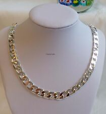 Thick 925 sterling silver filled men curb chain necklace(L20,22,24,26inches 10mm