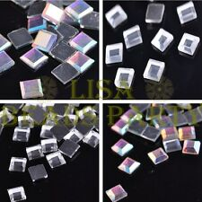 Wholesale DMC HotFix Rhinestone Crystal Iron on Flat Square 4mm 6mm 8mm 10mm