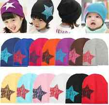 Unisex Baby Boy Girl Toddler Infant Children Cotton Kid Soft Cap Star Beanie Hat
