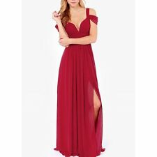 New Elegant Women Sexy V-neck  Bodycon Evening Cocktail Party Long Formal Dress