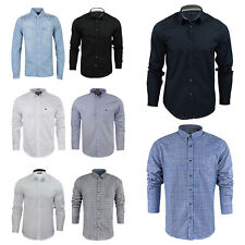 Mens Long Sleeve Shirt by Brave Soul Cotton Collared Casual Shirt Sizes S to XL