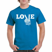 Love Peace T Shirt Hand S Flag Freedom 4th of July Tee Funny New Gift V Music Ts
