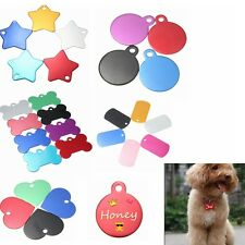 New Personalized Customised Pet Puppy Dog Cat Engraved Name ID Tags Collar BG