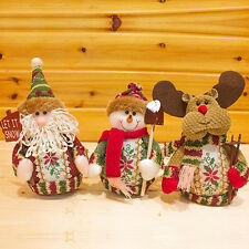 Santa Claus Snowman Moose Doll Christmas Decorations Xmas Tree Ornaments Gift