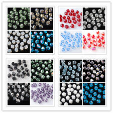 100pcs 6mm Charms Glass Crystal Bicone Loose Spacer Beads DIY Jewelry Findings